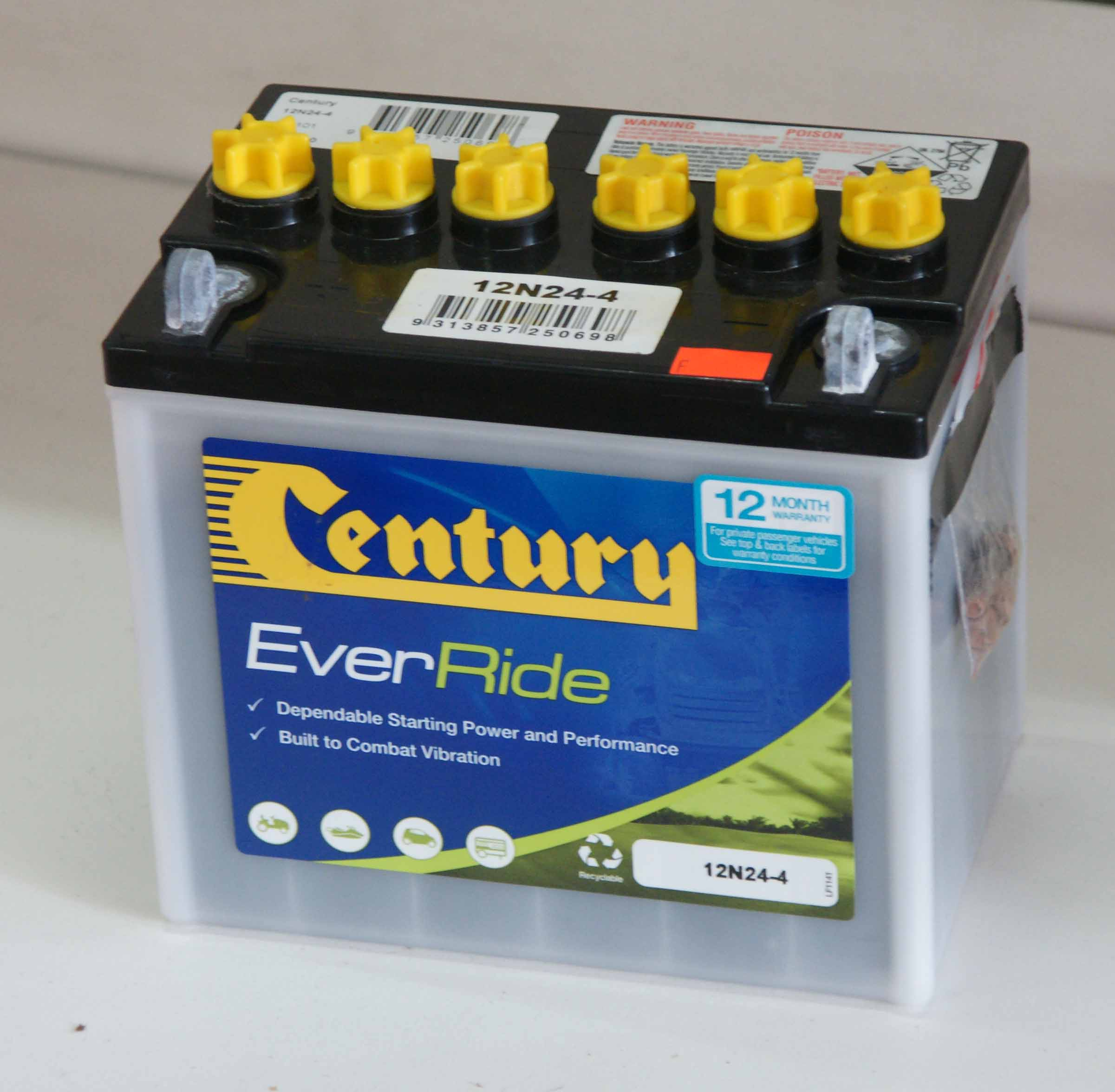 Century Ride On Batteries